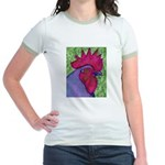 Red/Purple Rooster Jr. Ringer T-Shirt