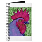 Red/Purple Rooster Journal