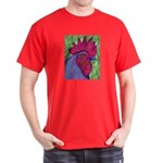 Red/Purple Rooster Dark T-Shirt