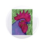 "Red/Purple Rooster 3.5"" Button (100 pack)"