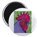 "Red/Purple Rooster 2.25"" Magnet (100 pack)"