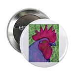 "Red/Purple Rooster 2.25"" Button (100 pack)"
