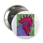 "Red/Purple Rooster 2.25"" Button"
