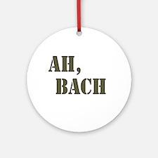 Ah, Bach Ornament (Round)