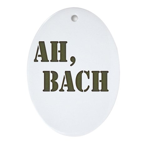 Ah, Bach Oval Ornament