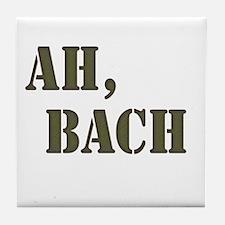 Ah, Bach Tile Coaster