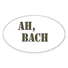 Ah, Bach Oval Decal