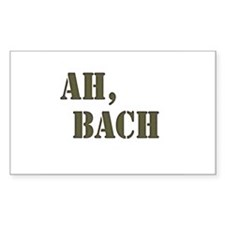Ah, Bach Rectangle Decal