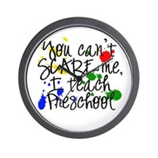 Preschool Scare Wall Clock