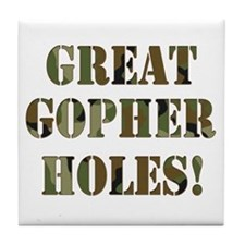 Great Gopher Holes Tile Coaster