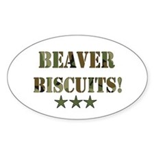 Beaver Biscuits Oval Decal