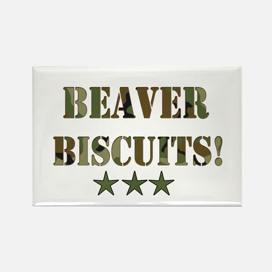 Beaver Biscuits Rectangle Magnet