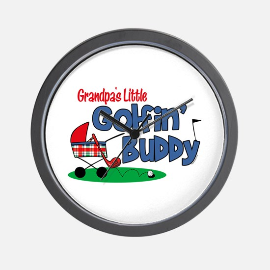 Grandpa's Little Golfin' Buddy Wall Clock