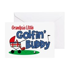 Grandpa's Little Golfin' Buddy Greeting Card