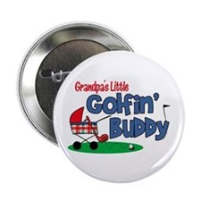"Grandpa's Little Golfin' Buddy 2.25"" Button"