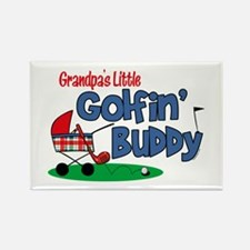 Grandpa's Little Golfin' Buddy Rectangle Magnet