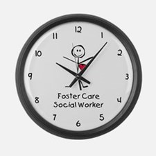 Foster Care SW SF Large Wall Clock