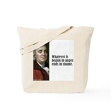 """Franklin """"Begun In Anger"""" Tote Bag"""