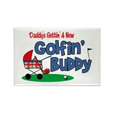 Daddy's New Golfing Buddy Rectangle Magnet