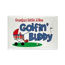 Grandpa's New Golfing Buddy Rectangle Magnet