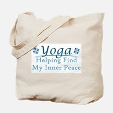Finding Peace Yoga Tote Bag
