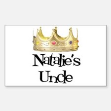 Natalie's Uncle Rectangle Decal