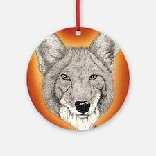 Coyote Ornament (Round)