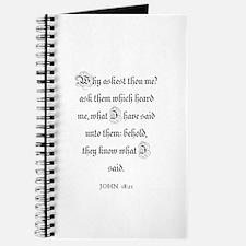 JOHN 18:21 Journal