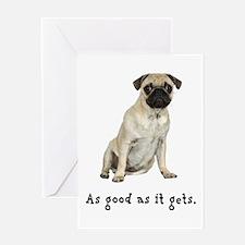 Good Pug Greeting Card