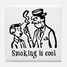 Smoking is cool Tile Coaster
