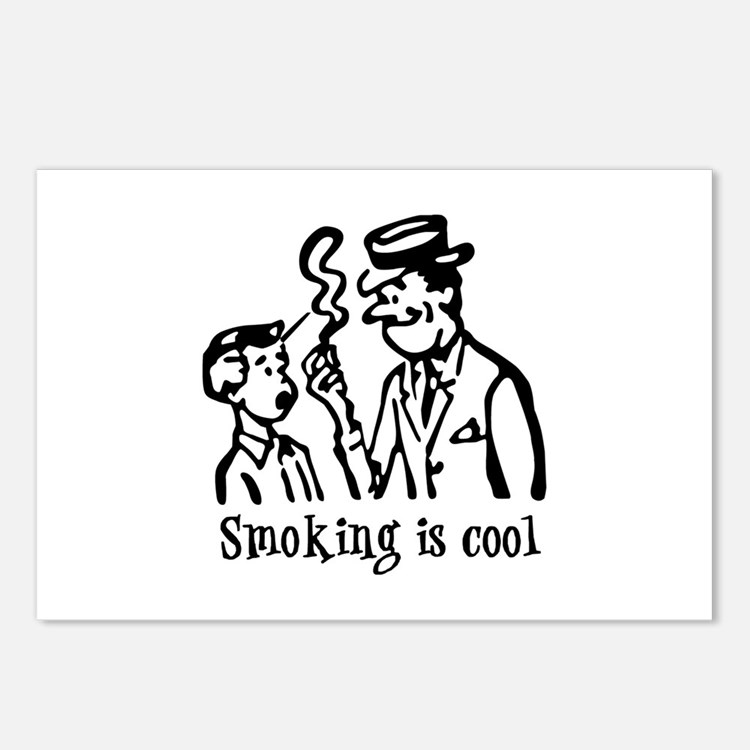 Smoking is cool Postcards (Package of 8)