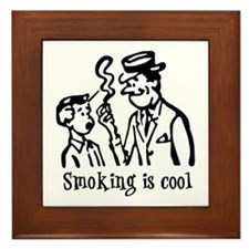 Smoking is cool Framed Tile