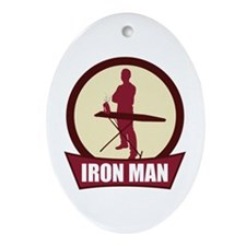 """Iron Man"" Oval Ornament"