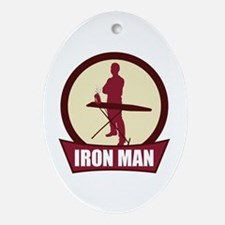 """Iron Man"" Oval Ornament"