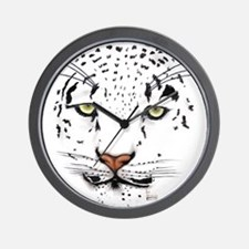 Snow Leopard Wall Clock