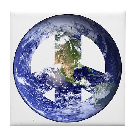 World Peace Sign West Tile Coaster