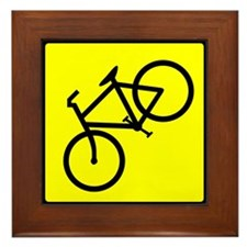 Bike Sign Share the Road Framed Tile