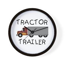 Tractor Trailer Wall Clock