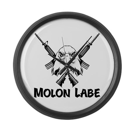 Molon Labe (Bald Eagle) Large Wall Clock