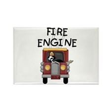 Fire Engine Rectangle Magnet