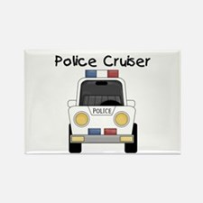 Police Cruiser Rectangle Magnet