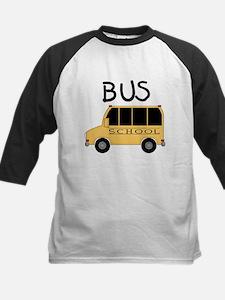 School Bus Kids Baseball Jersey