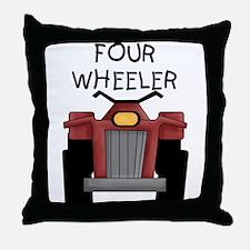 Four Wheeler Throw Pillow