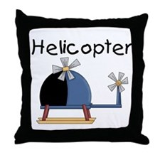 Helicopter Throw Pillow