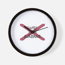 Sweet Home Alabama Wall Clock