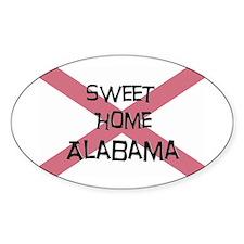Sweet Home Alabama Oval Decal