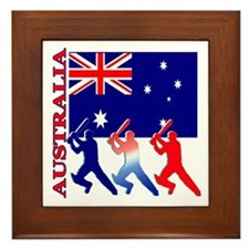 Australia Cricket Framed Tile