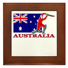 Australia Cricket Player Framed Tile