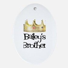 Bailey's Brother Oval Ornament