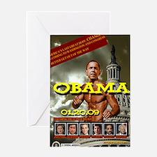 obama 01/20/09 Greeting Card